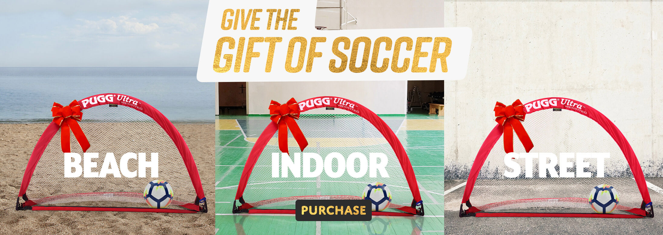 give the gift of soccer pugg weighted pop up soccer goals