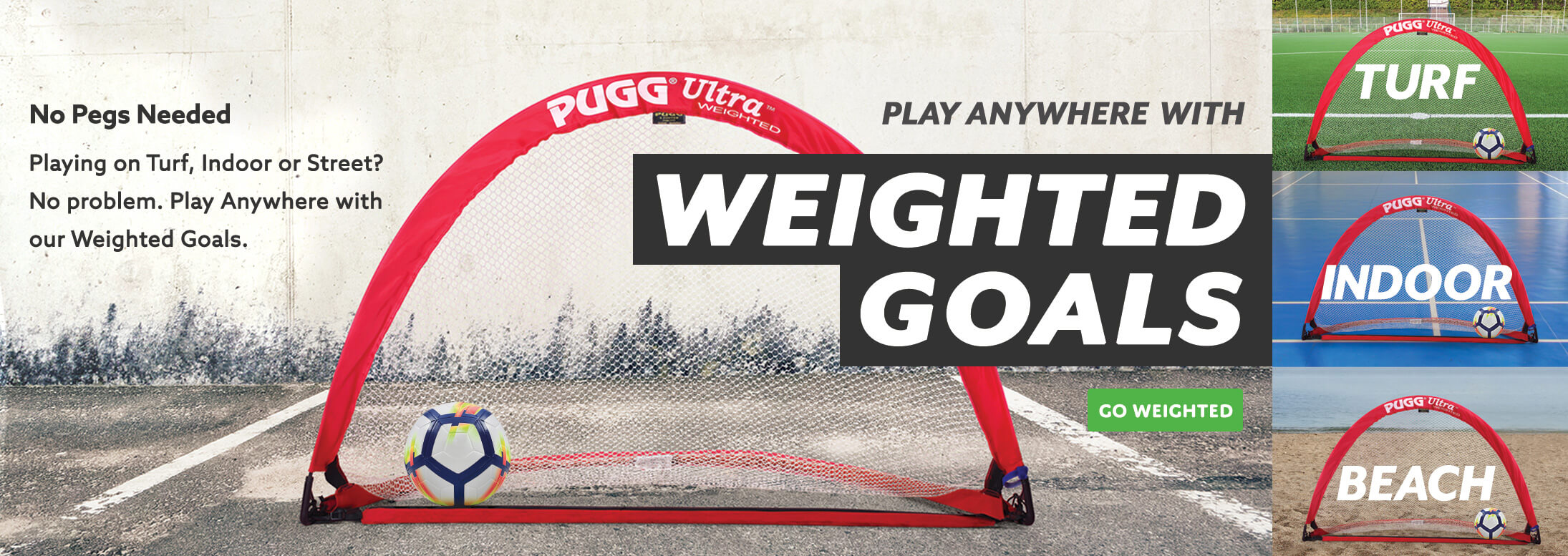 Play Anywhere with Weighted Goals