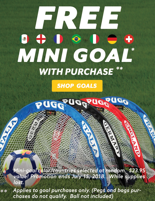 free mini pugg pop up soccer goal
