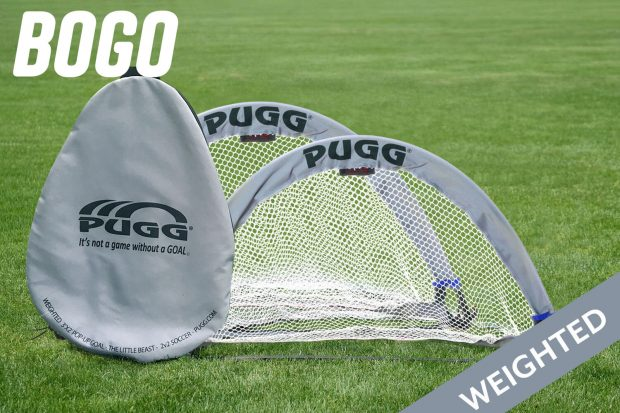 pugg weighted pop up goal 3 footer little beast