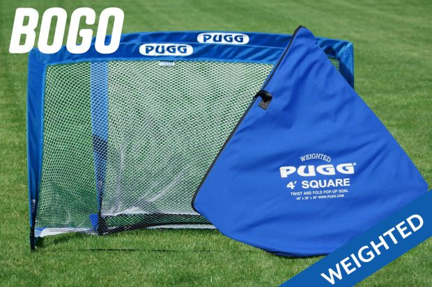 pugg weighted pop up goal 4 footer ultra u90
